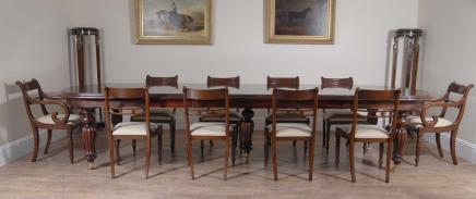 Victoriaanse Dining Set Regency Rosette Stoelen