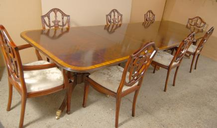 Regency Dining Set Pedestal Table Adams