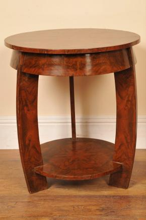 Art Deco Side Table Walnut