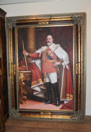 Engelsk Oil Painting King Edward VII