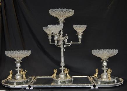 Серебряная пластина Болтон Centrepiece Epergne