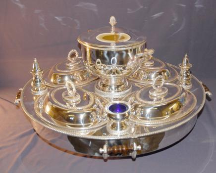 الفضة مطلي هولمارك كسلان سوزان باين ماري 10 قطعة ملقم