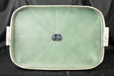 Victoriaanse segrijn Verzilverd Butlers lade Platter