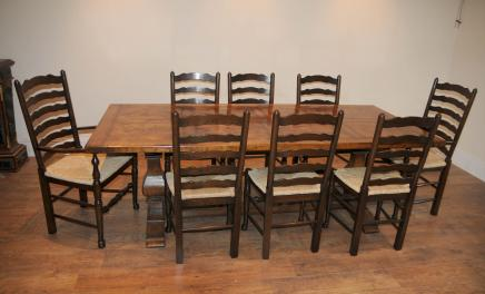 Ladderback Chair refektoriet Table Kitchen Dining Set
