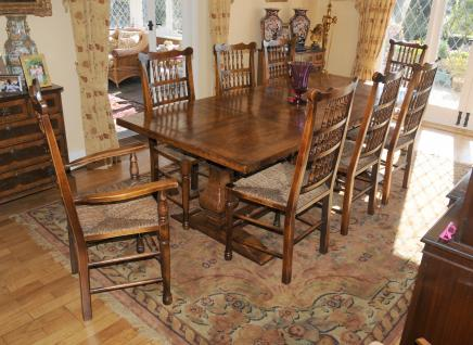 Kitchen Refektoriumstisch Spindleback Chair Set