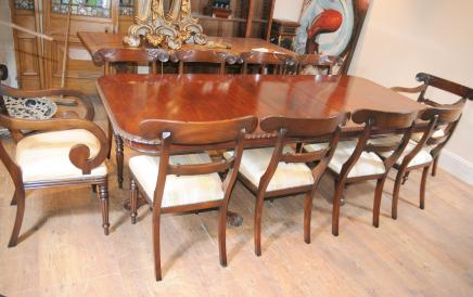 10 Willem IV Stoelen Chippendale Antique Dining Set