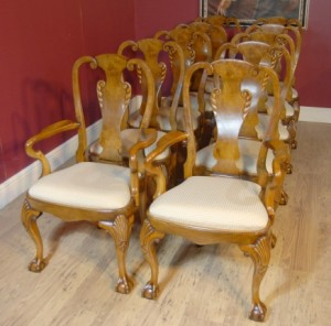 Queen Anne Nussbaum Dining Chairs