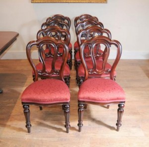 Victorian Balloon Zurück Admiralty Dining Chairs