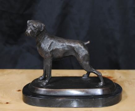 Bronze English Bull Dog Statue Dogs Canine Art