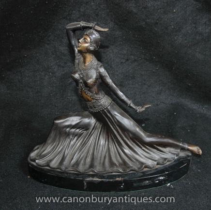 Art Deco Bronze Dancer Figurine State by Preiss