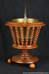 Victorian Walnut Ice Bucket Peat Coal Scuttle Planter