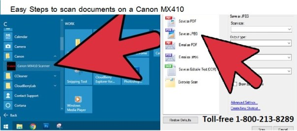 Easy Steps to scan documents on a Canon MX410