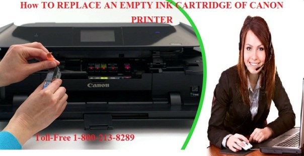 How TO REPLACE AN EMPTY INK CARTRIDGE OF CANON PRINTER