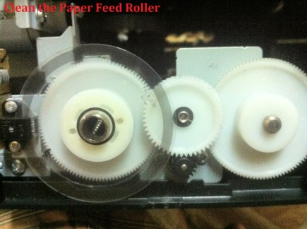 Clean the Paper Feed Roller