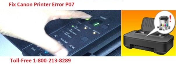 fix Canon Printer Error P07