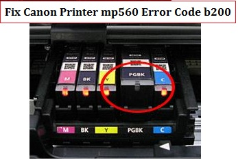 Fix Canon Printer mp560 Error Code b200