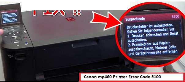 Fix Canon mp460 Printer Error Code 5100