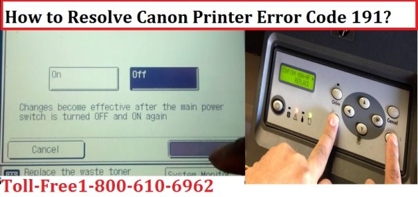 Canon Printer Error Code 191