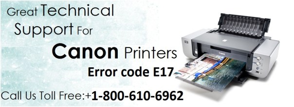 Resolve Canon Printer Error Code E17