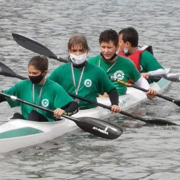 I nostri  giovani atleti della canoa a Caldonazzo