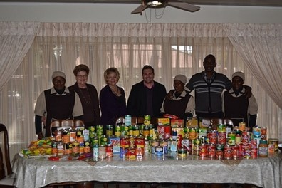 The Play School donated lots of canned food, exceeding the value of R3 000, to be used at the CANSA Tipuana Care Home