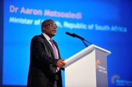Dr Aaron Motsoaledi addressing WCLS participants