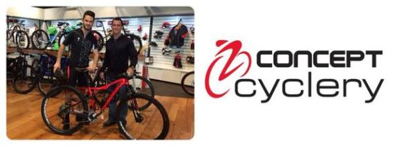 Concept Cyclery is kindly sponsoring his kit