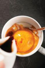 red espresso affogato
