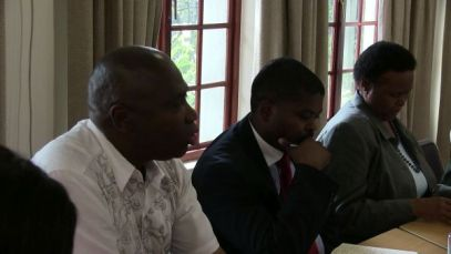 Ms Dudu Mthombeni, Mr Zano Futshane and Dr Chika Asomugha of the Gauteng Department of Health