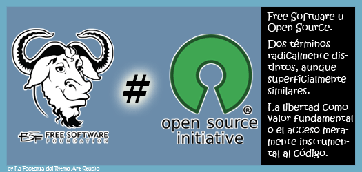 Software Libre y Software de Fuentes Abiertas, sus diferencias: Free Software vs Open Source