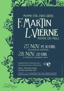 """Plakat """"Messen von F. Martin & L. Vierne"""""""