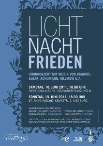 """Plakat """"Licht, Nacht, Frieden"""""""