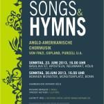 "Plakat ""Songs & Hymns"""