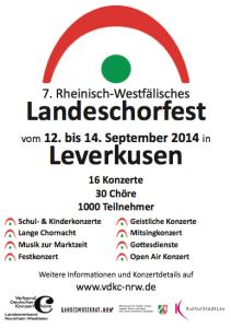 Plakat Landeschorfest Leverkusen 2014