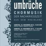 """Plakat """"Umbrüche"""""""