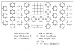 40 x 100 Pole Tent Seating Arrangements | Canton Canopy