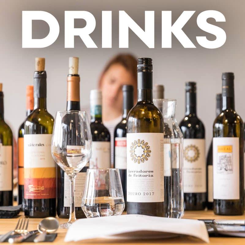 Drinks menus image navigation