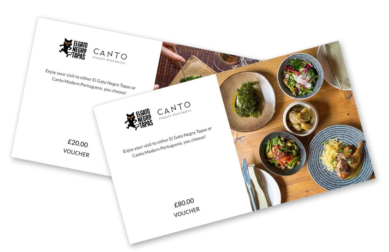 Canto gift vouchers