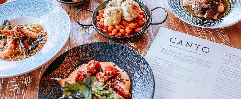 New menu dishes at Canto