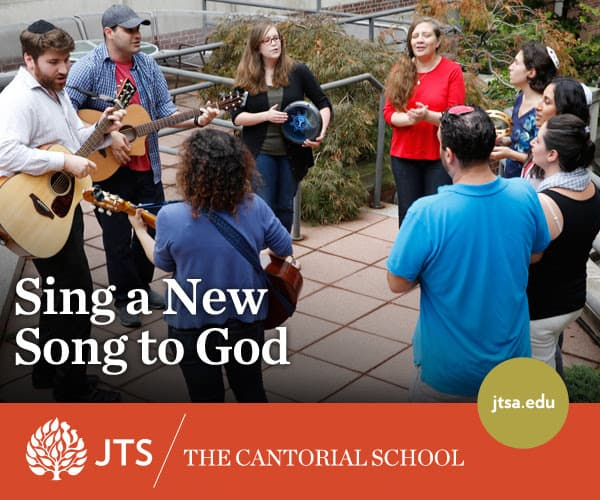 $10,000 (twice) in Support for Incoming Cantorial Students at JTS!