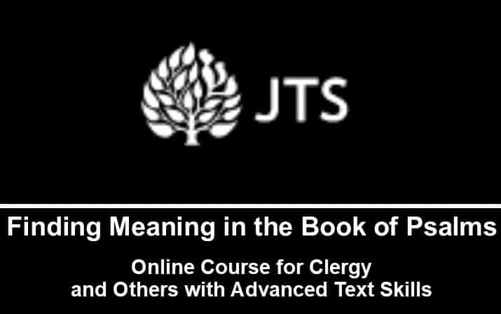 Online Course:  Finding Meaning in the Book of Psalms