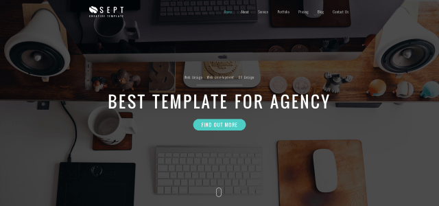 Sept - Free Bootstrap Theme/Landing page