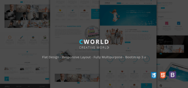 CWorld – Multi Purpose Bootstrap Theme