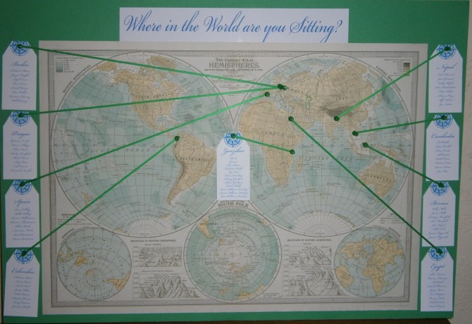 Our Story Where in the World are you sitting Wedding Seating Plan
