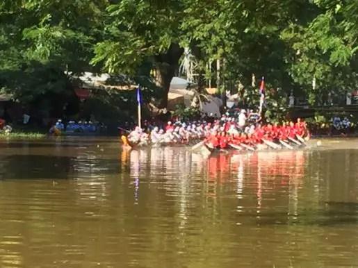 Dragon boat race water festival Siem Reap