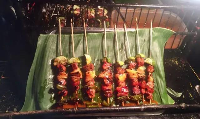 Beef Kebabs at Walking Street in Vientiane, Laos