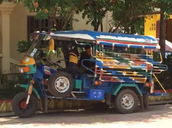 Songthaew tuk tuk Vientiane Laos