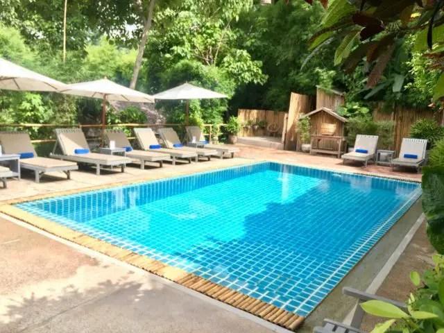Swimming pool at My Dream Boutique Resort in Luang Prabang, Laos
