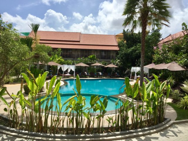 Spring Palace Boutique Hotel Swimming Pool in Siem Reap, Cambodia