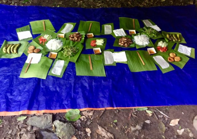 Barbeque pork fresh spring rolls with Hai's Eco Tours in Phong Nha, Vietnam